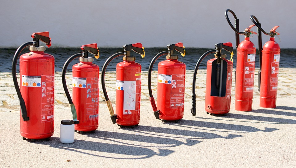 maintaining the fire extinguishers